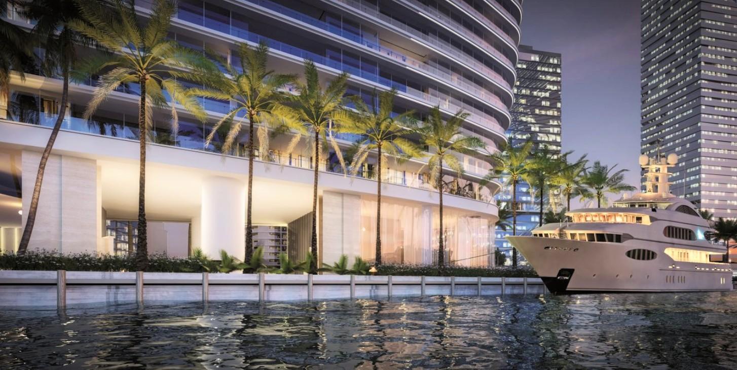 aston martin condo yacht port