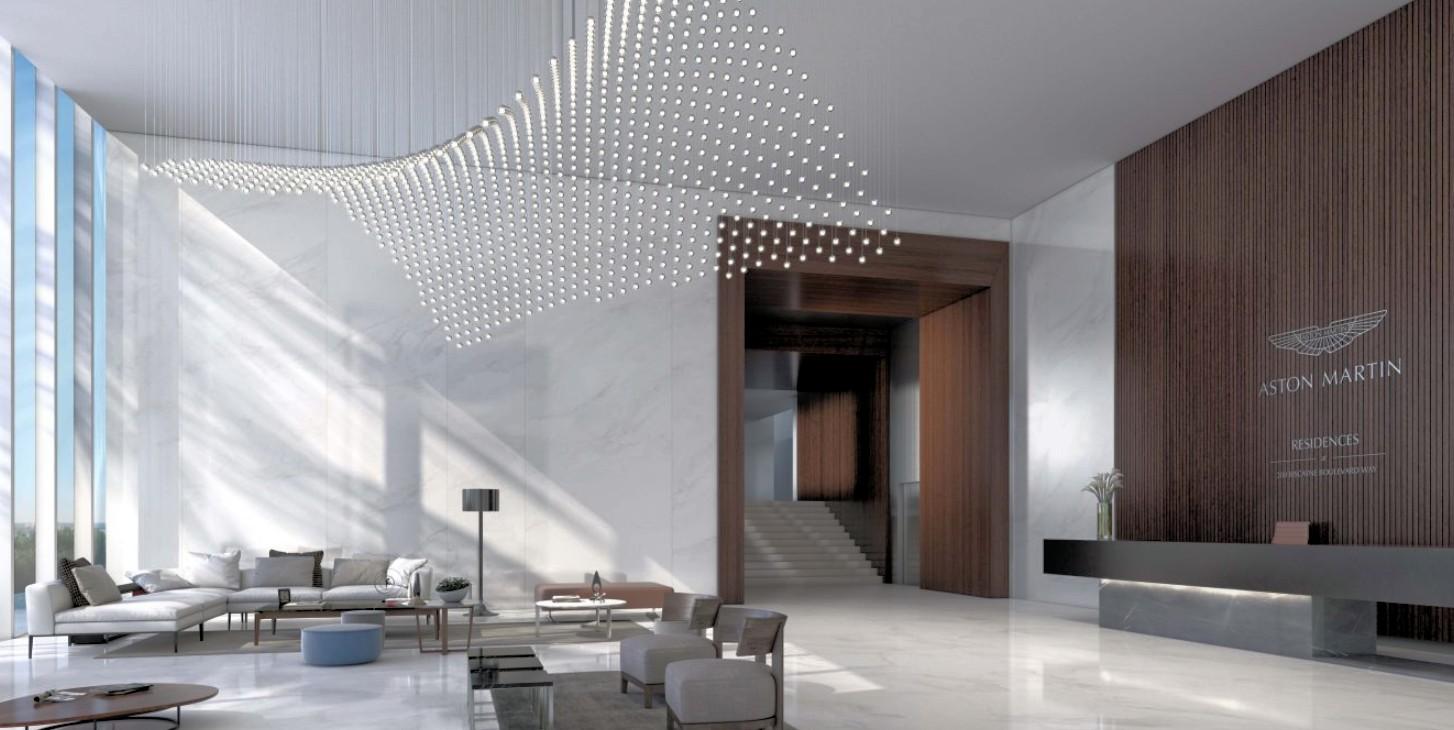 aston martin residences lobby entrance
