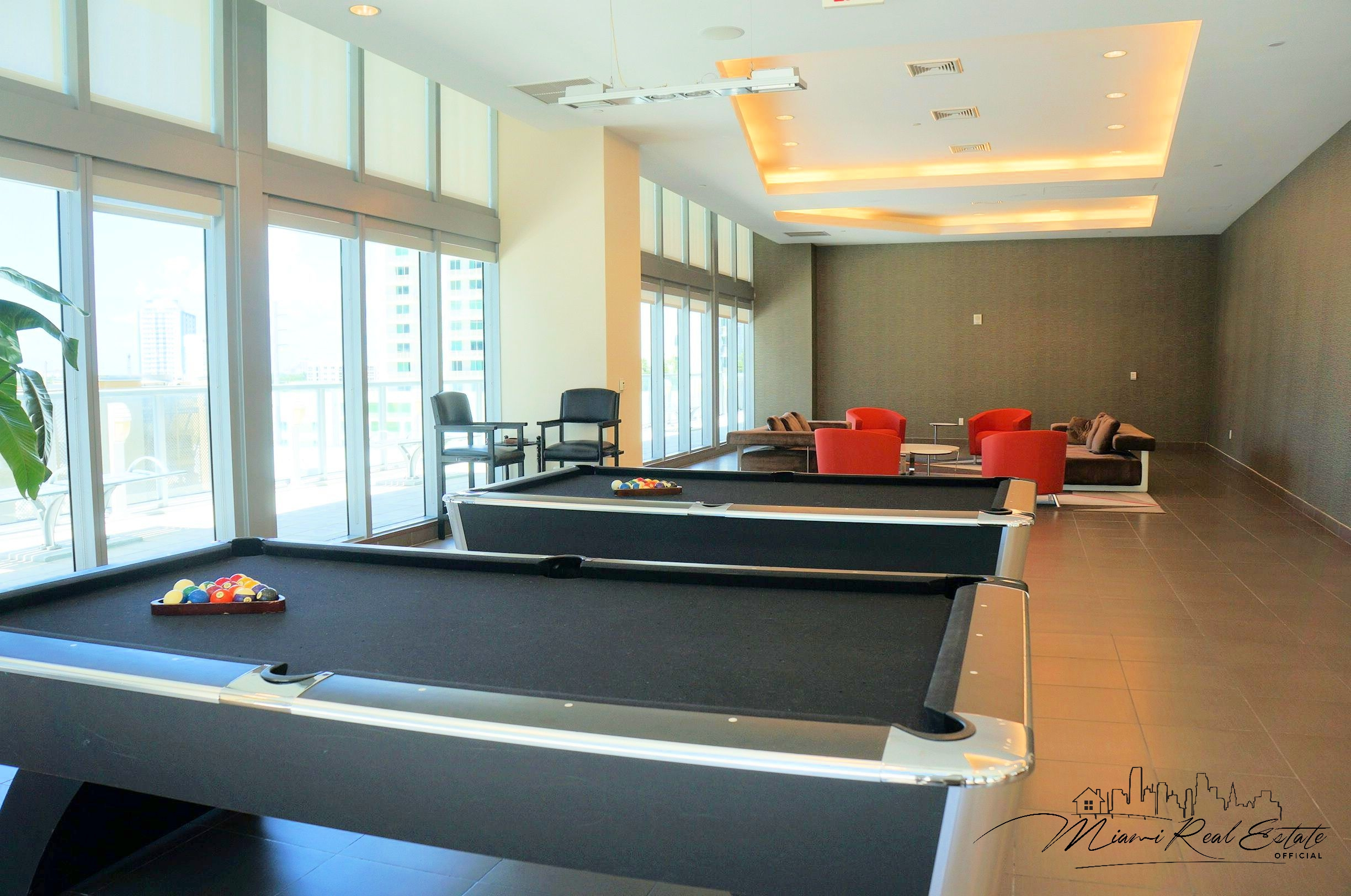 axis brickell entertainment room