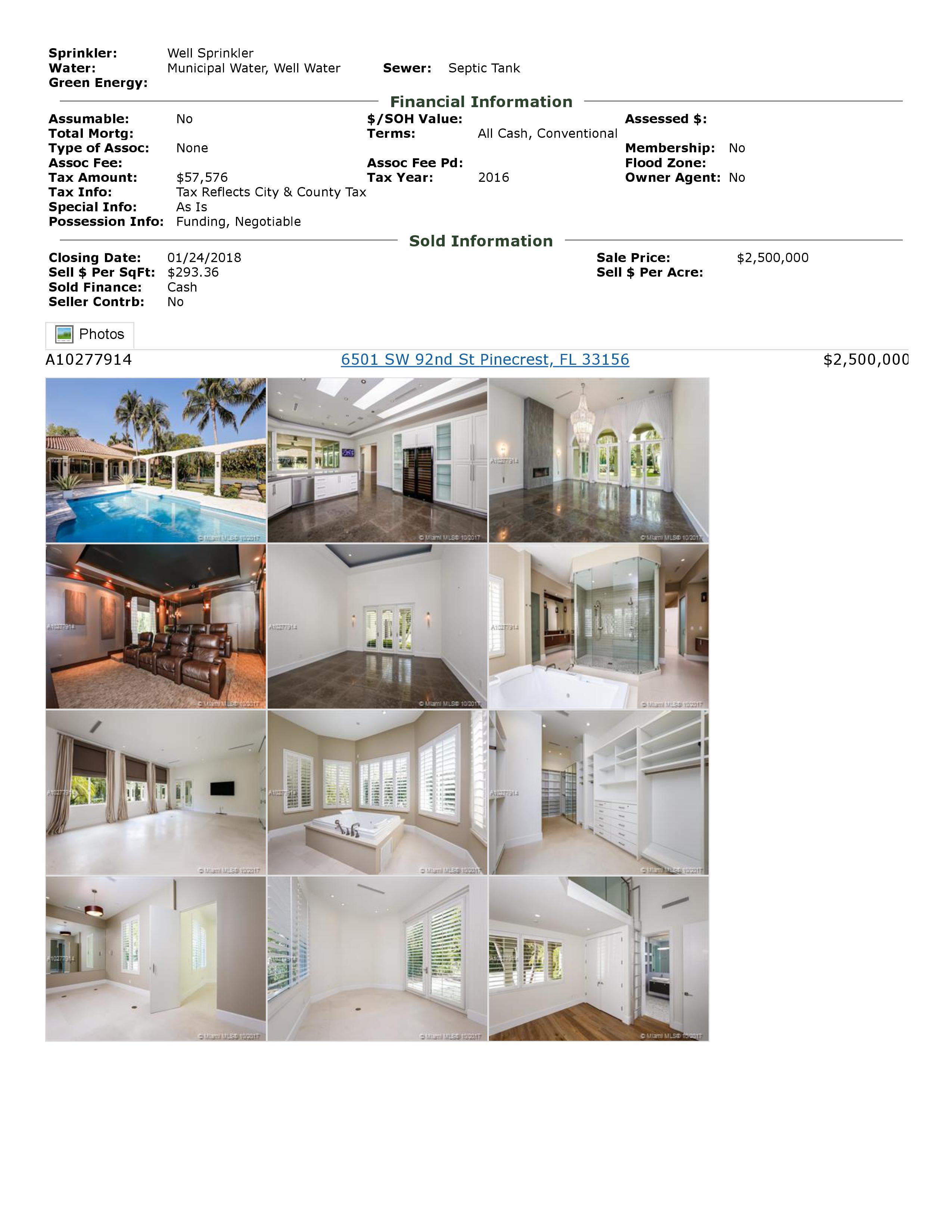 6501 sw 92 street pinecrest florida 33156
