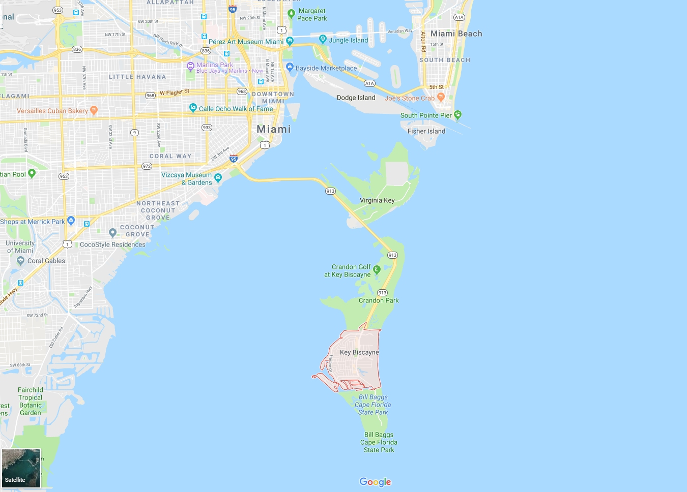 Key Biscayne Map