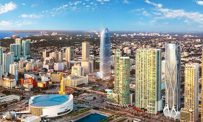 Okan Tower downtown miami