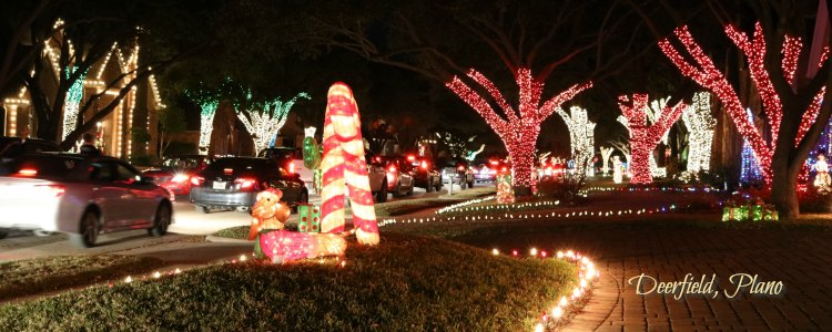 Deerfield Plano, TX Christmas Lights