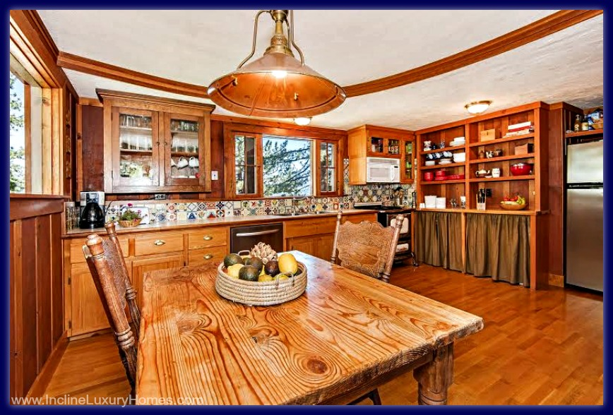 Made only of premium materials, the kitchen of this Incline Village NV luxury home for sale is a dream come true.