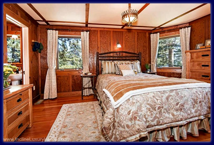 The master bedroom of this high end home for sale in Incline Village NV is to die for.