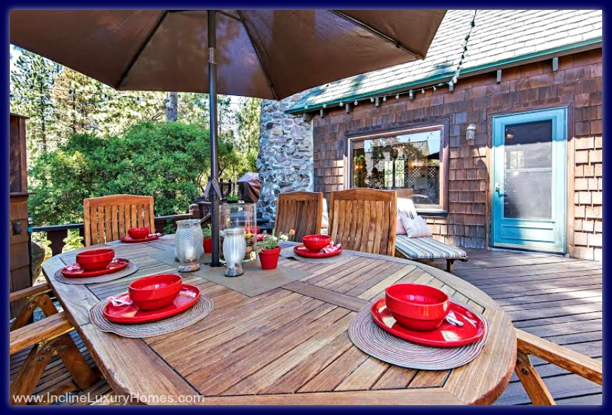 Picture yourself with the whole family, enjoying great meals at the beautiful deck  of this high end home for sale in Incline Village NV.