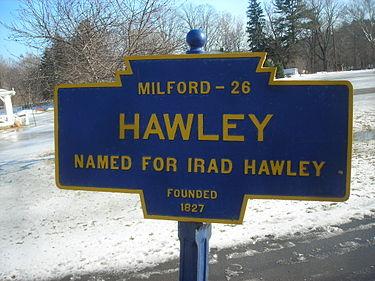 Hawley PA Historic Marker
