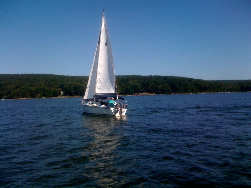 A beautiful day sailing on Lake Wallenpaupack!
