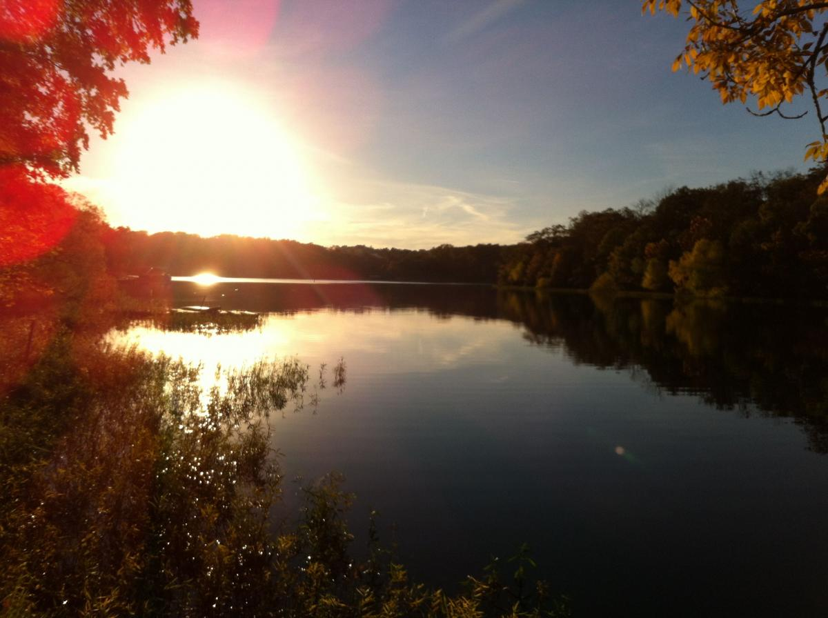 Tanglewood Lakes in Greentown PA at Sunset
