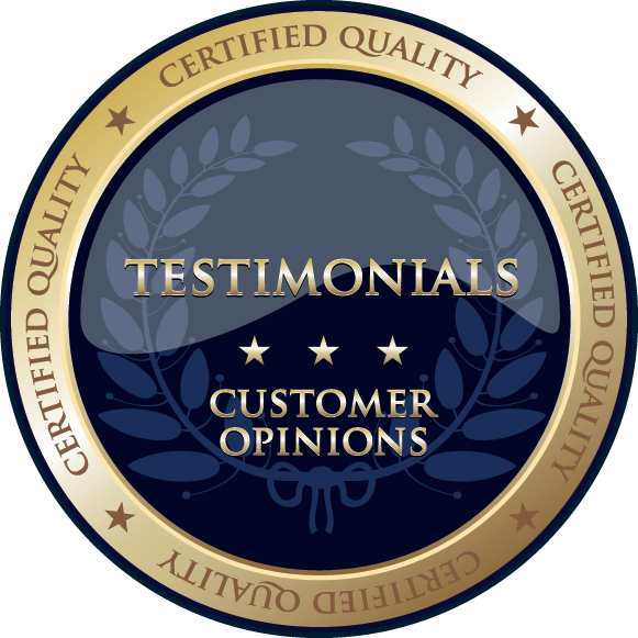 HQ Homes certified testimonials badge