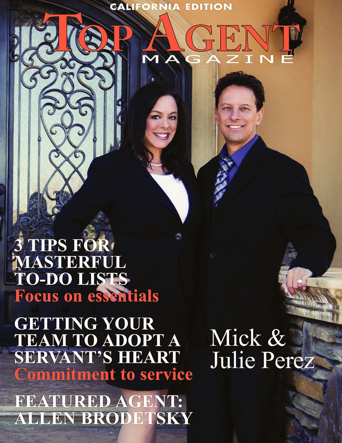 Mick and Julie Perez - Top Agent Magazine, Your Trusted Real Estate Experts