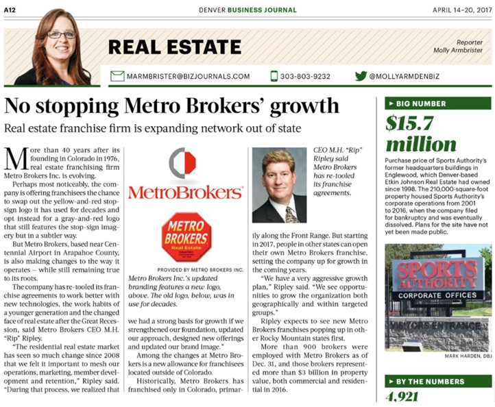 No Stopping Metro Brokers Growth