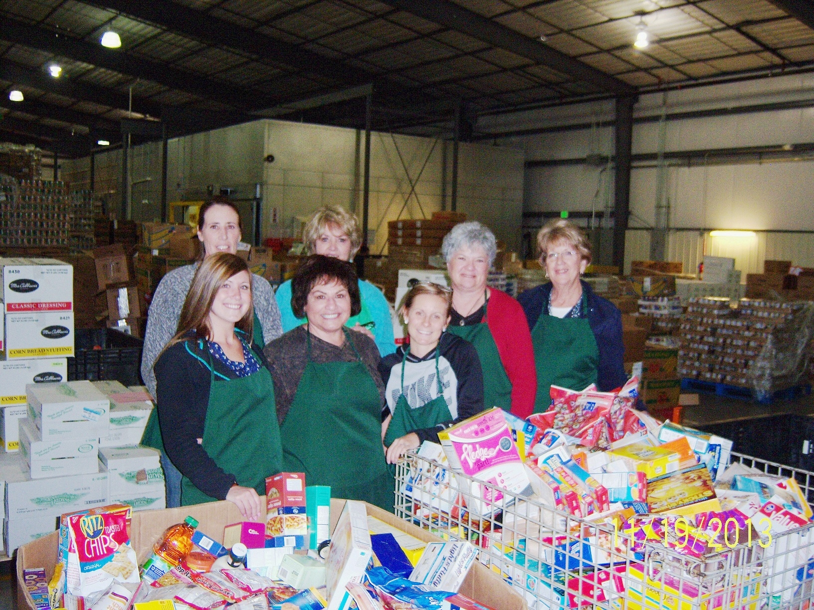 Volunteering at Weld Food Bank