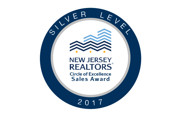 Silver Level New Jersey Realtors Circle of Excellence Sales Award