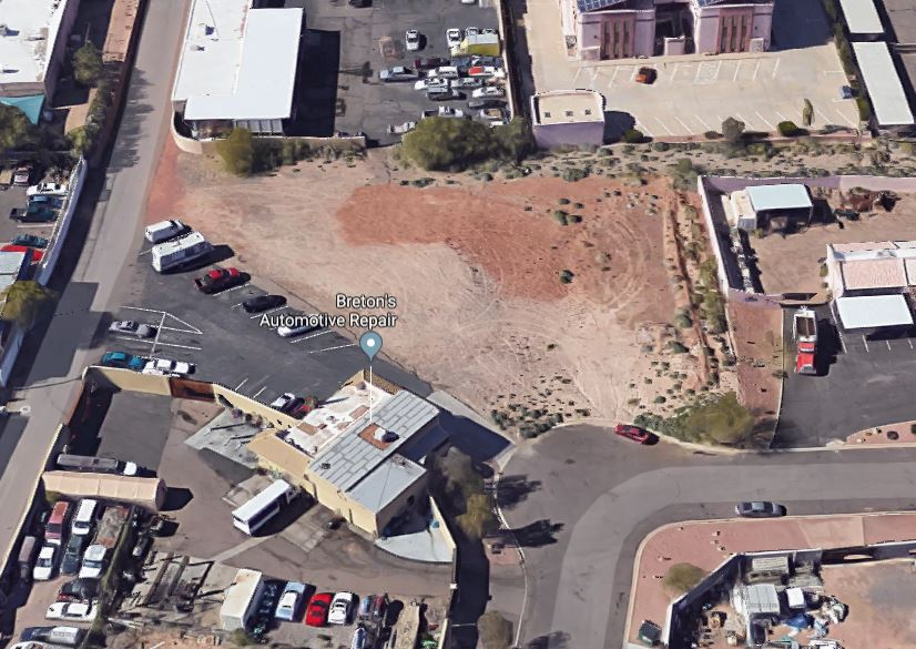 Aerial Photo of this commercial lot