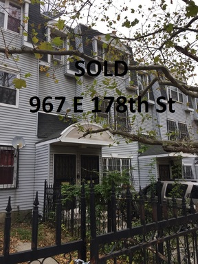 Multi Family 2-4 Sold: 967 E 178th St