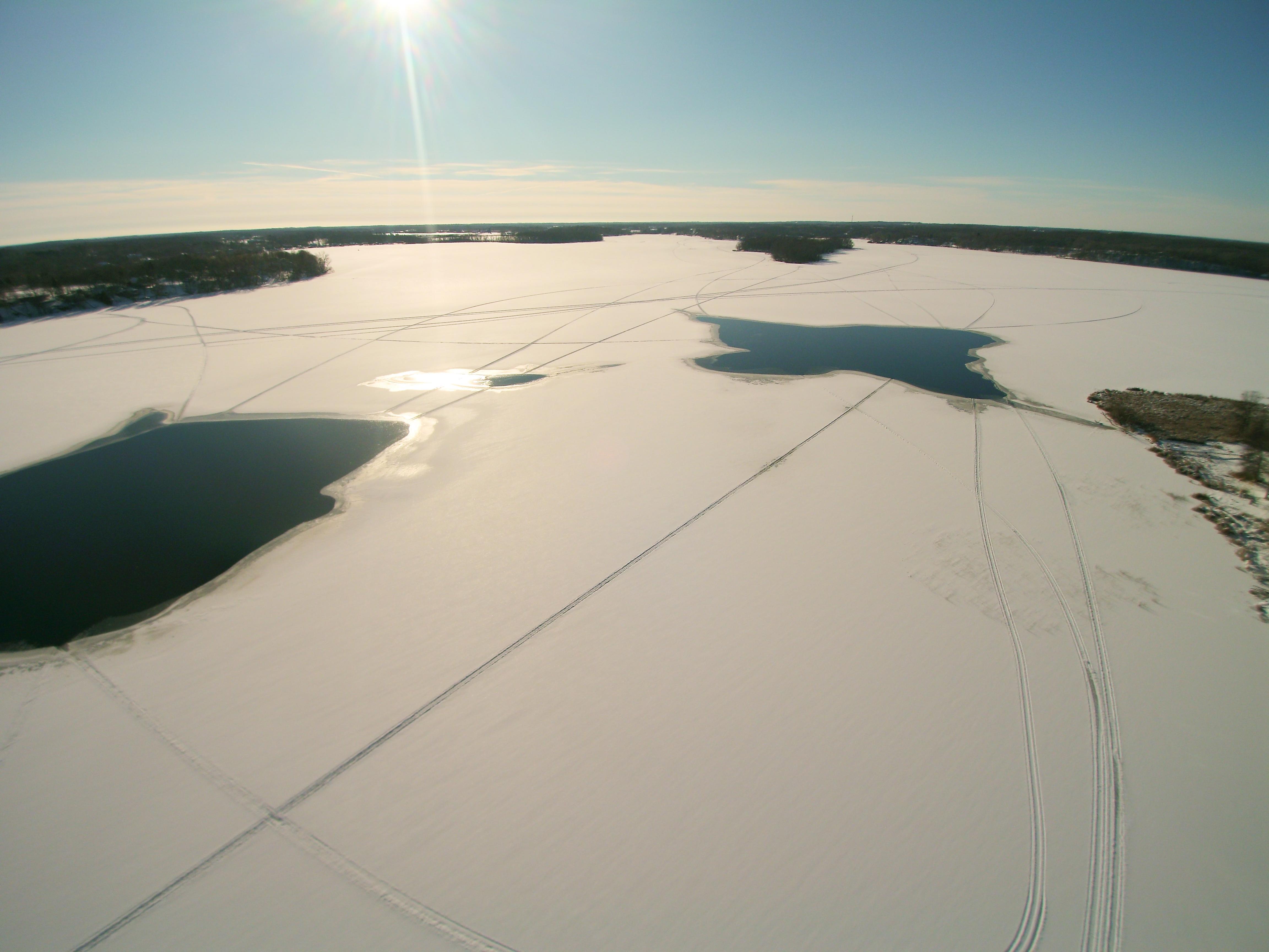 West Rush Lake in winter
