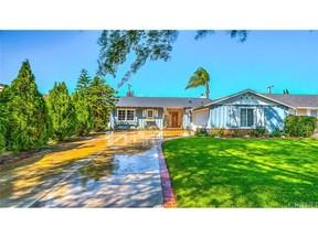 CANOGA PARK  CA Single Family Home Sold: $615,000