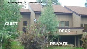 Evergreen CO Condo/Townhouse For Rent: $2,500 Twenty Five Hundred