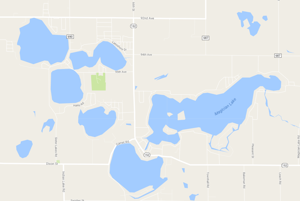 Sister Lakes Joseph Williams Georgia Michigan - Georgia map lakes