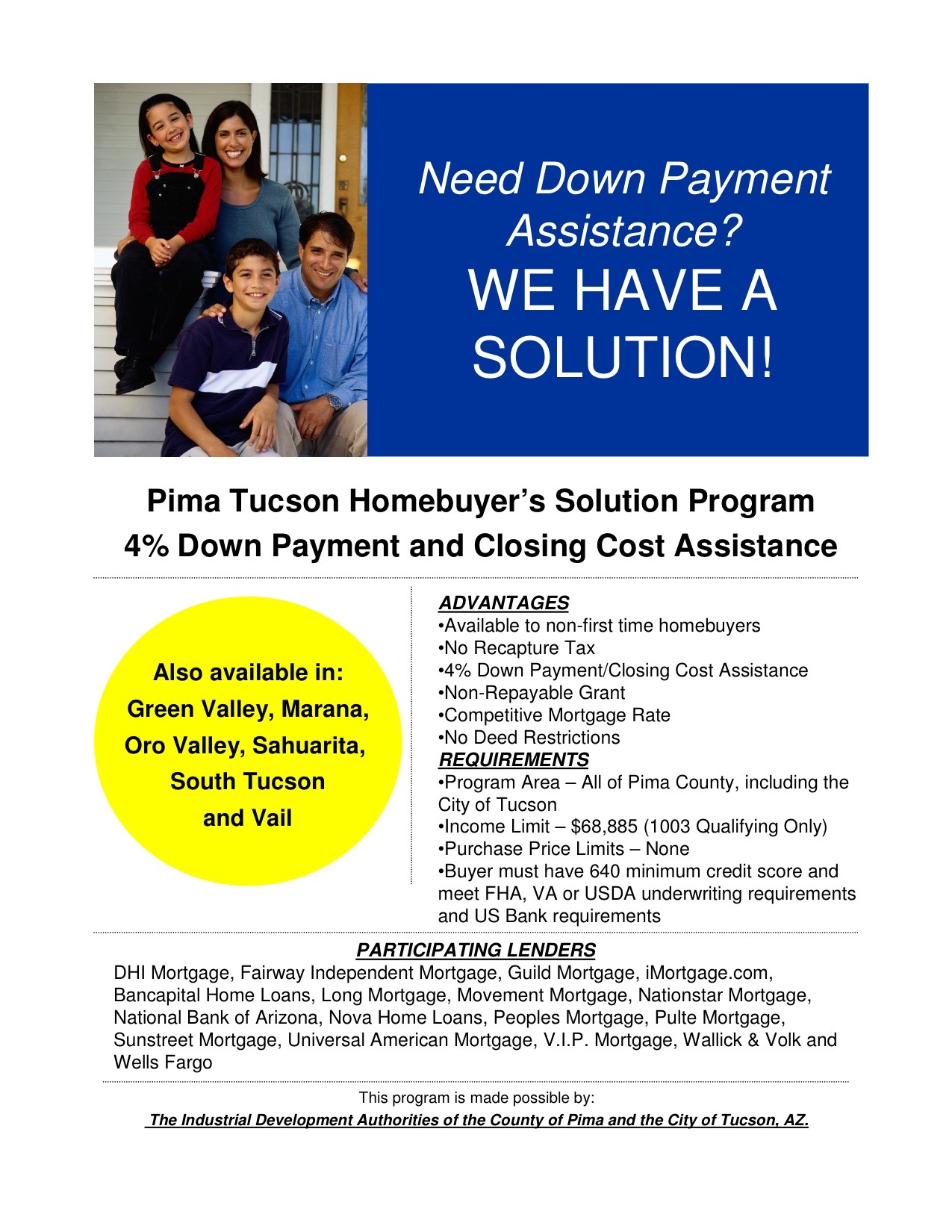 Down Payment Assistance Tucson Real Estate