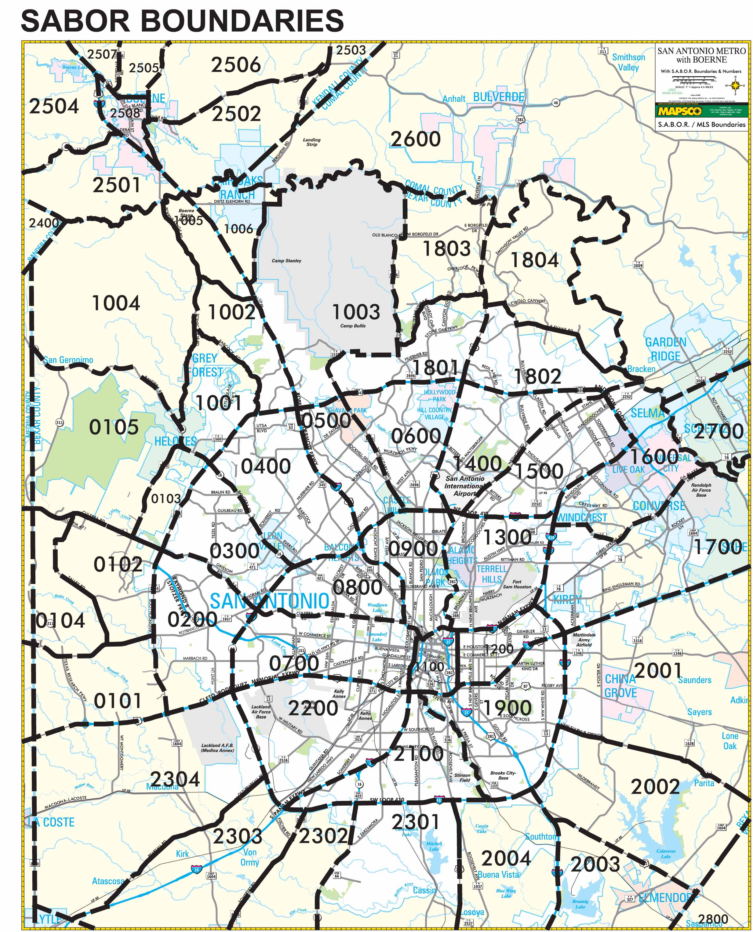 Zip Code/Boundary Map | Steve Malouff | 210-325-9807 | San Antonio on