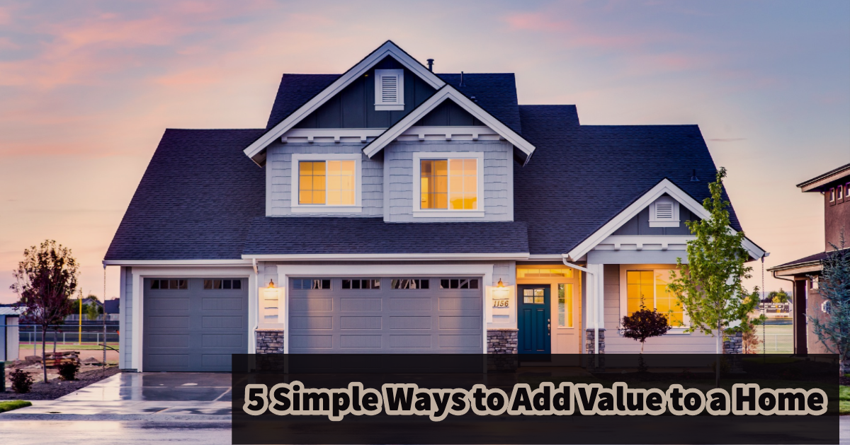 Ways to add value to a home