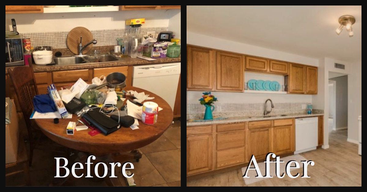 kitchen house flipping before and after