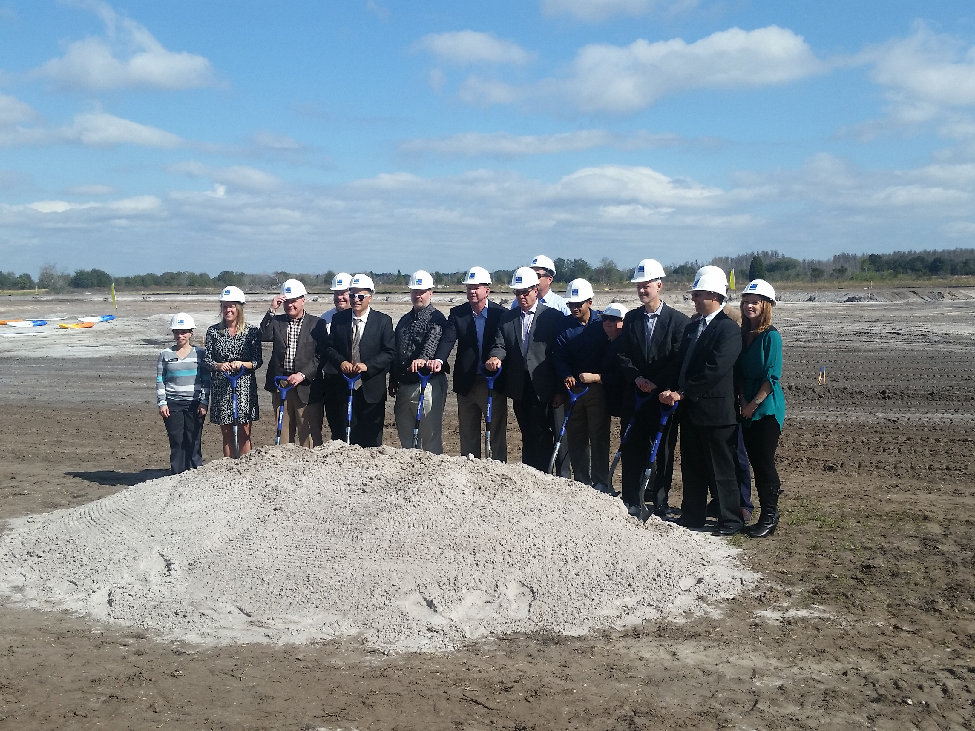 Epperson ranch crystal lagoon groundbreaking event in for Epperson ranch homes