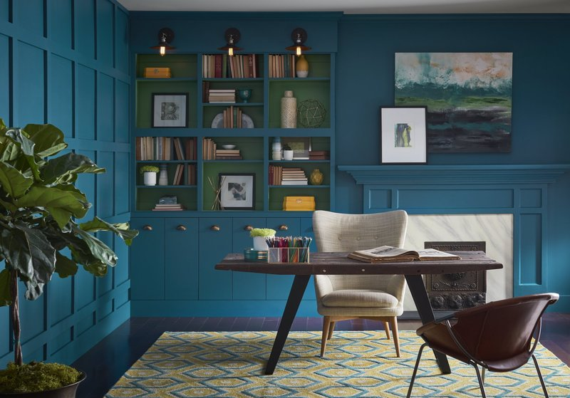 Color of the year, Sherwin Williams Oceanside, Kitchen trends 2018, Color trends