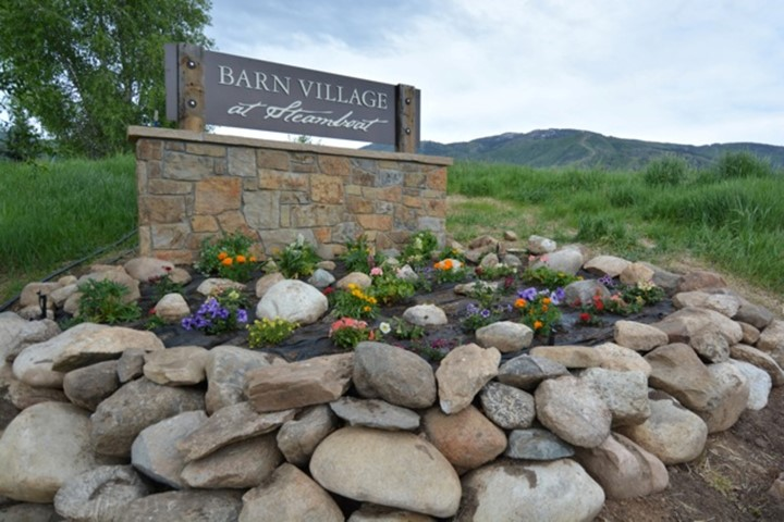 Photo of sign at Barn Village