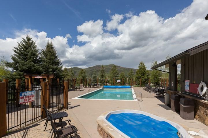 Pool at The Rockies Condos