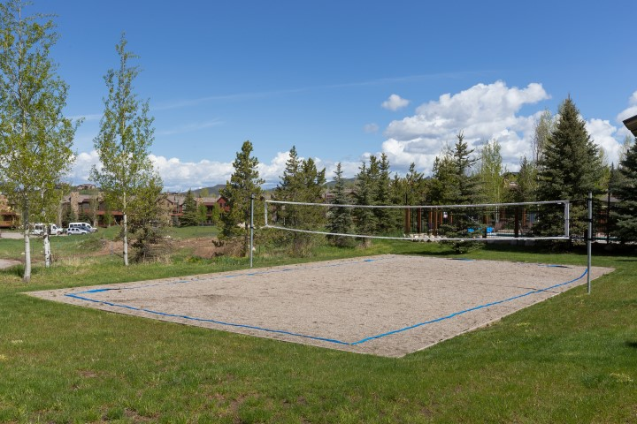 Volley Ball court at The Rockies Condos