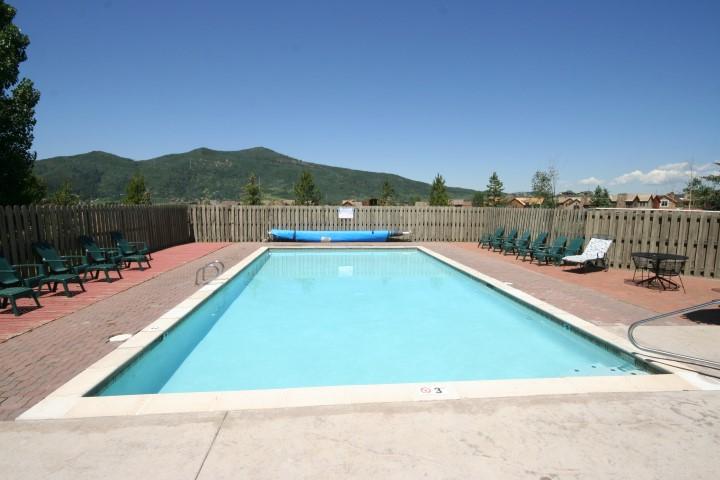 Swimming pool at The Rockies Condos