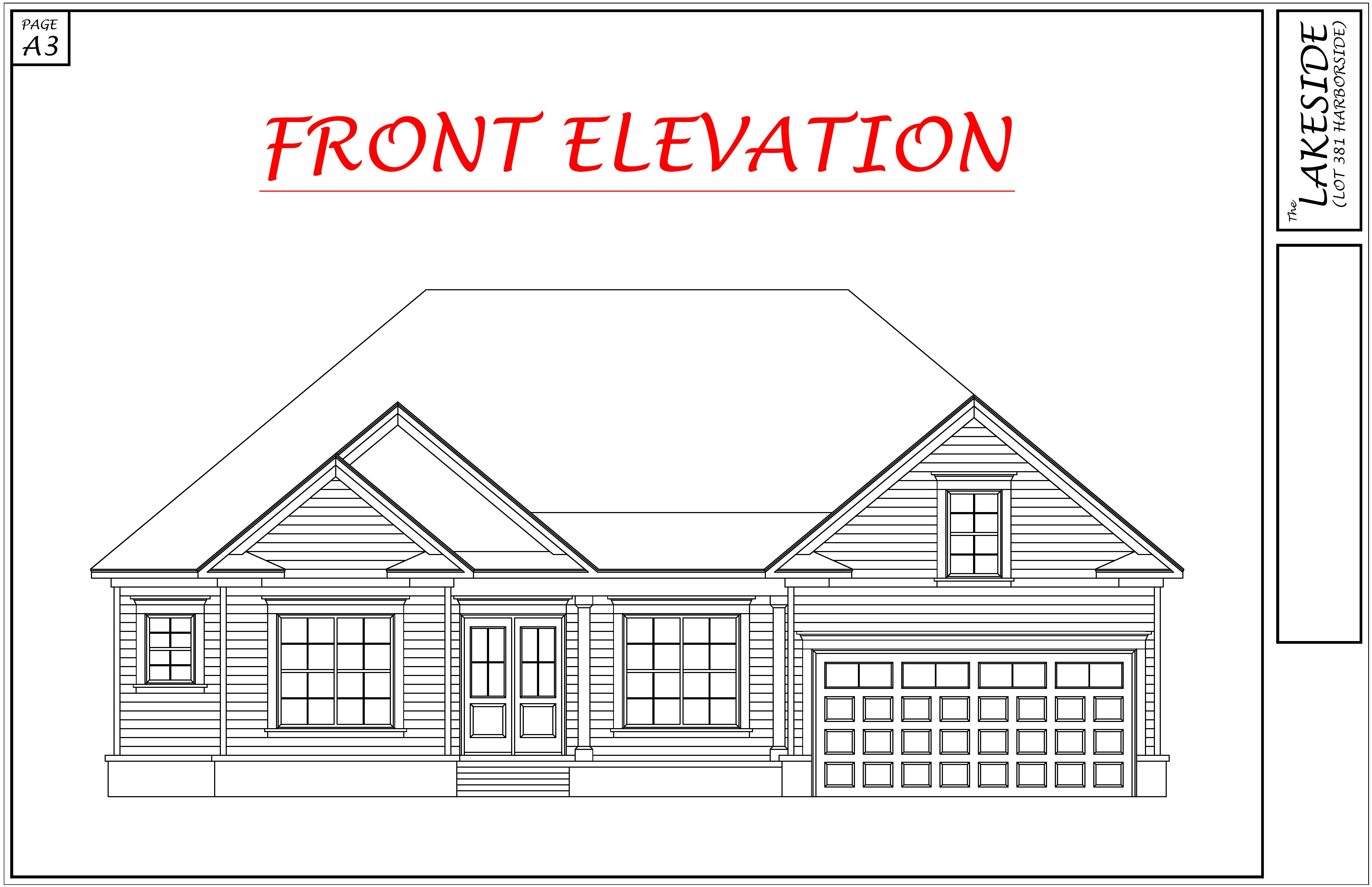 New Construction 717 Long Pointe Lane Front Elevation