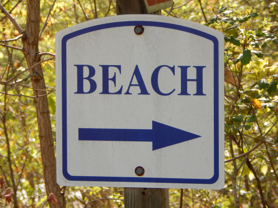 beach sign lake of the woods, va