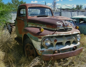 Active: 1951 FORD V8 F-6 TWO TON TRUCK