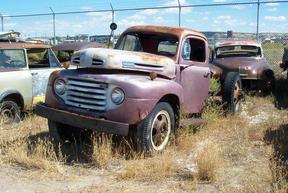 Active: 1949 Ford V8 F-6 2-Ton Truck-Dark Blue