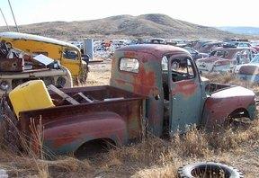 Sold: 1949 Ford V8 F-1 1/2 Ton Pickup-dark gre