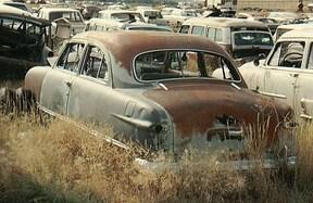 Sold: 1950 Ford V8 Custom Tudor-light green