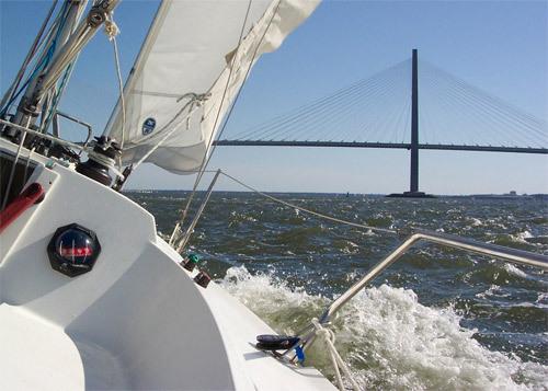 Sailing in Charleston Harbor