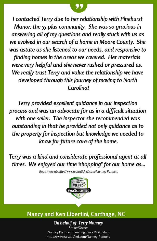 Picture of Terry's review which is the content of this blog post.