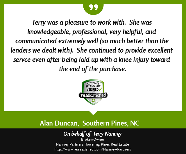 Picture of RealSatisfied Review for Terry Nanney which is written in this post.