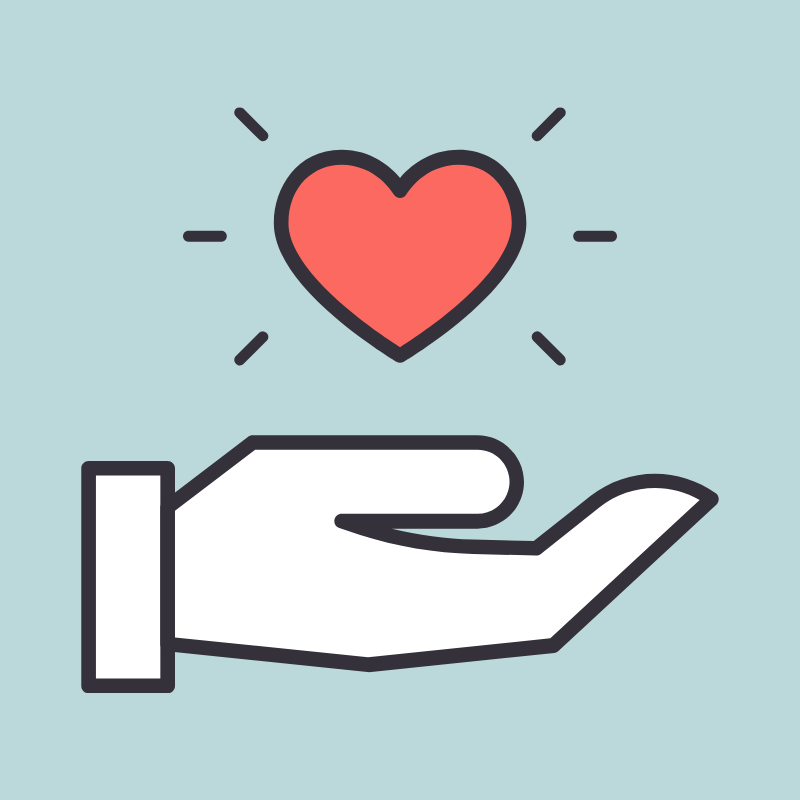 Hand with a heart