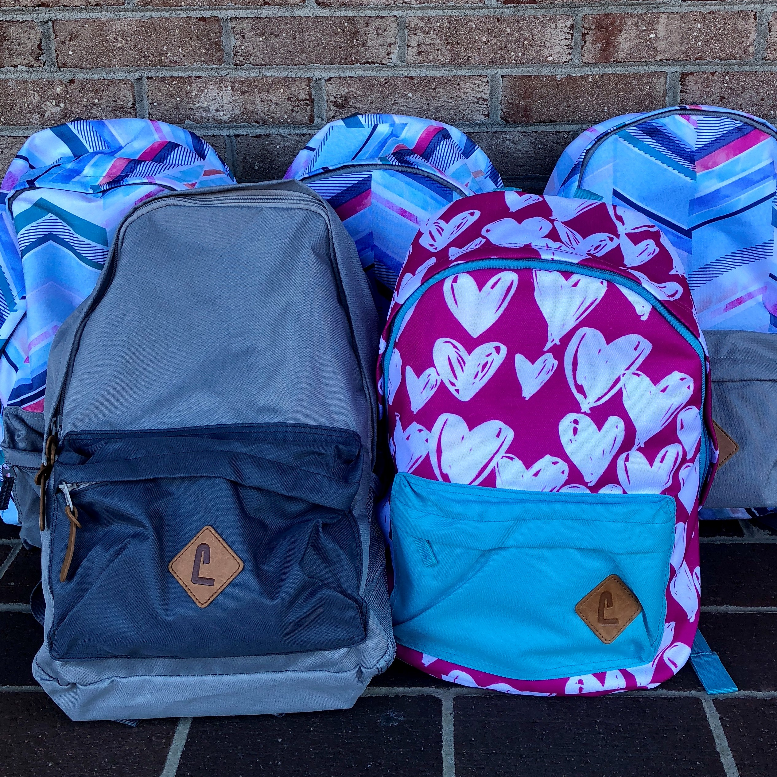 Photograph of 5 Backpacks