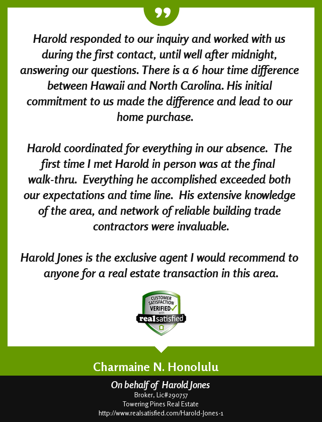 Image of Harold Jones Real Satisfied Review - Text in Blog Post