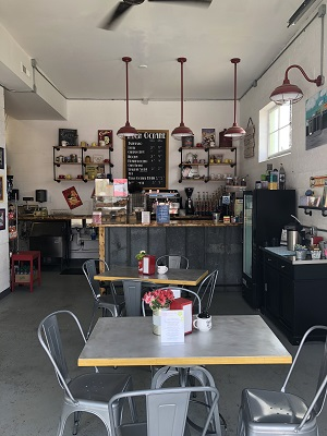 A photo of a coffee shop