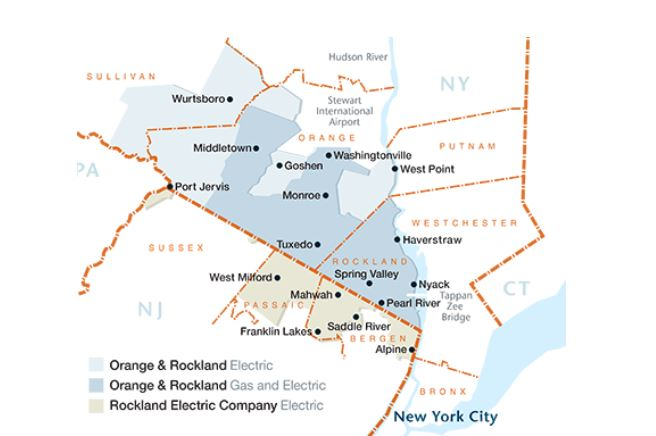 Orange Rockland Map