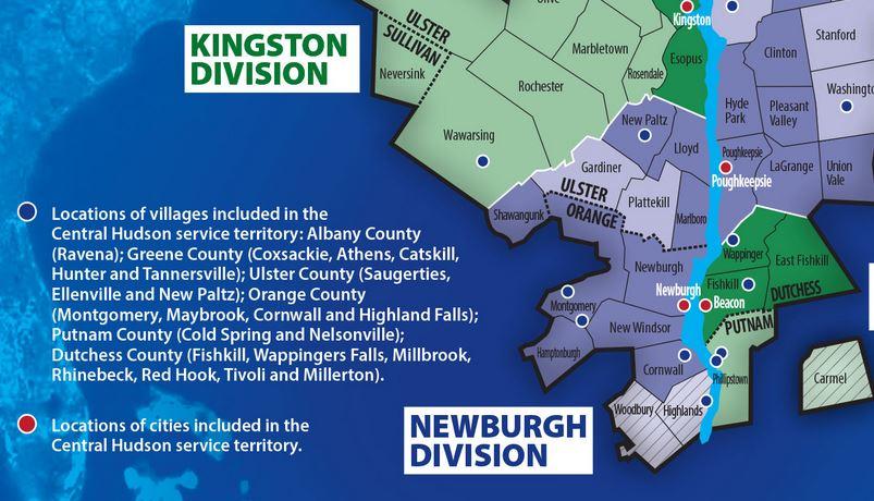 Central Hudson Map