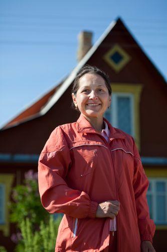 Mature Asian Woman homeowner